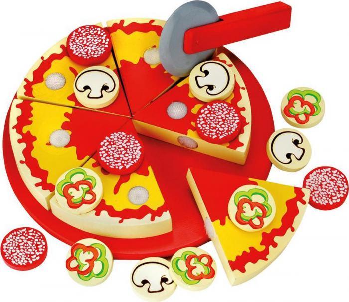 Houten pizza Bino 31-delig