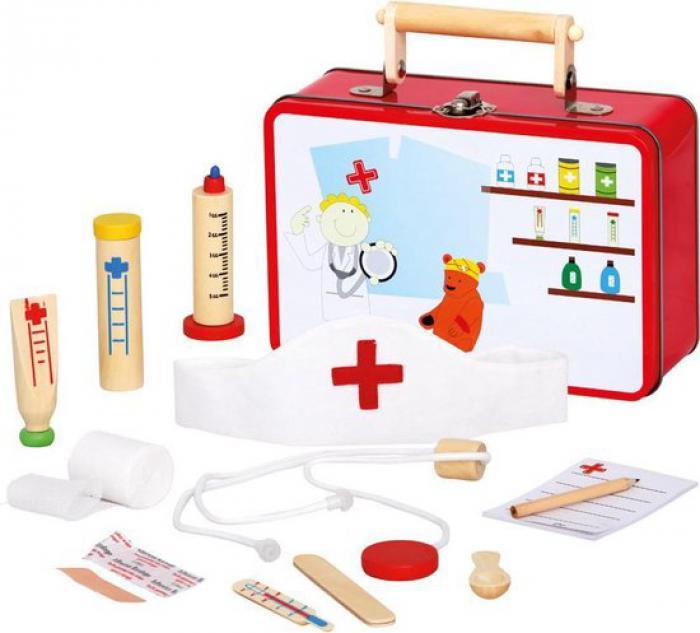 Dokter/dierenarts EHBO set in koffer