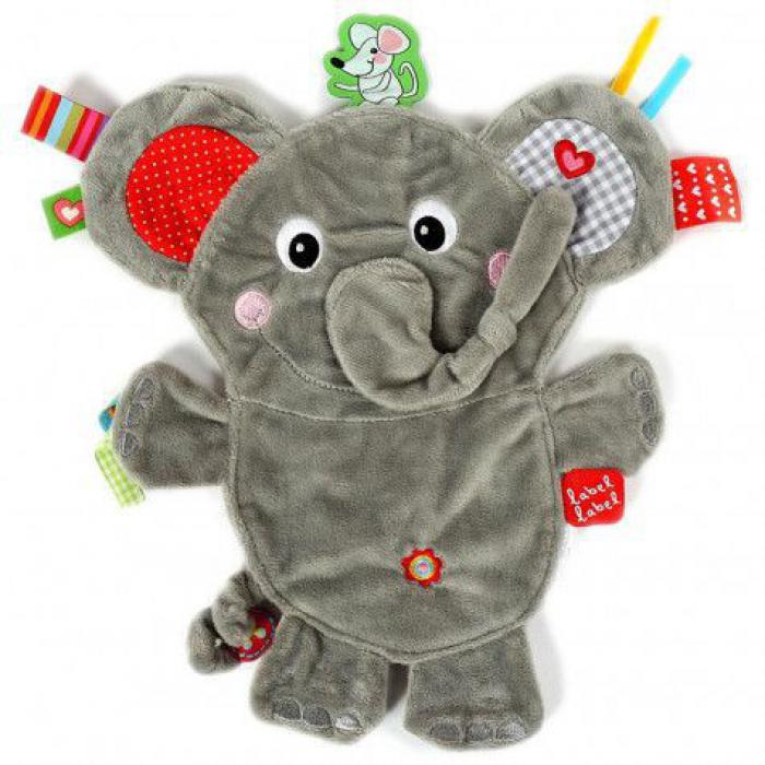 Label label friends knuffeldoekje olifant