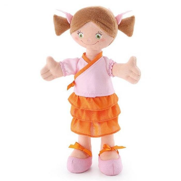 Stoffen pop brunette Trudi 30 cm
